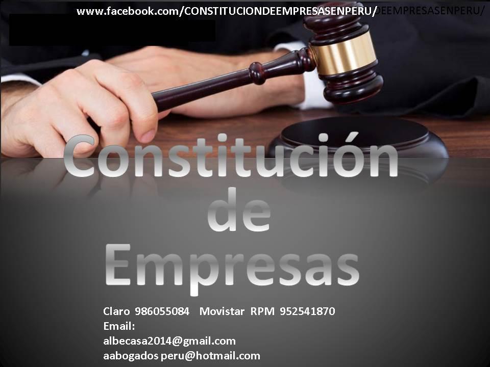 COSTITUCIÓN DE EMPRESAS EN PERU