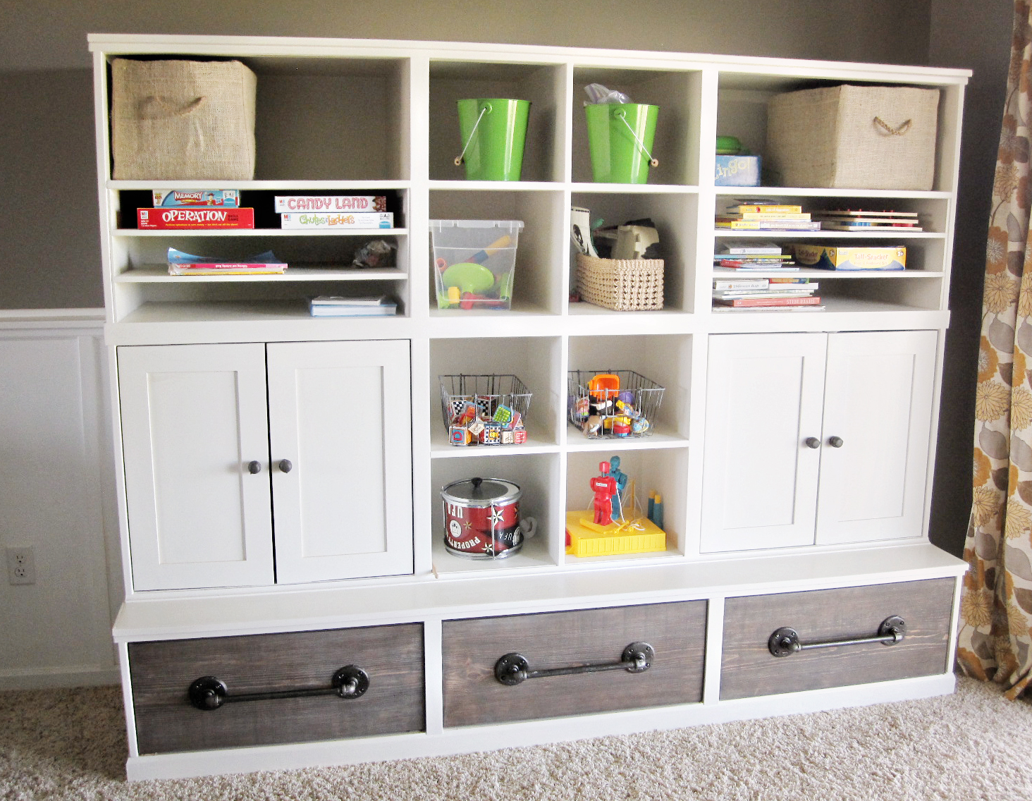 kriskraft play room storage unit