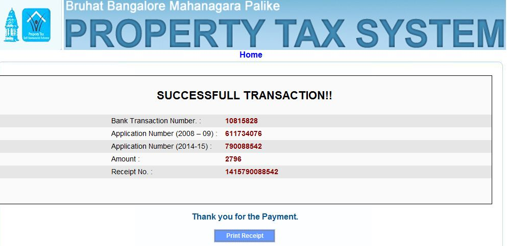 how to pay house tax online in bangalore