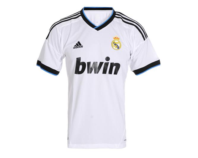 Equipaci  N   Uniforme   Camiseta Real Madrid Blanca Y Azul 2012 2013