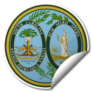 Sticker of South Carolina Seal