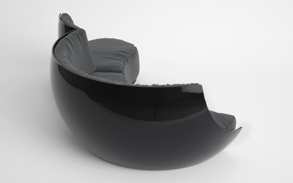 ... Sofa Form On The Front. As You Can See, With This Design, Production  Process Will Be Fast Since The Body Is Made With Plastic. I Like The Black  One :)