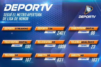 Segui el Metro Apertura de Liga de Honor por DEPORTV