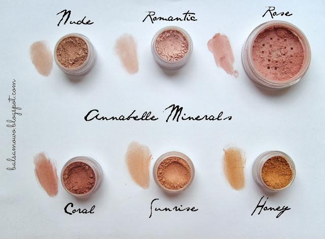 Annabelle Mineral róże odcienie swatche