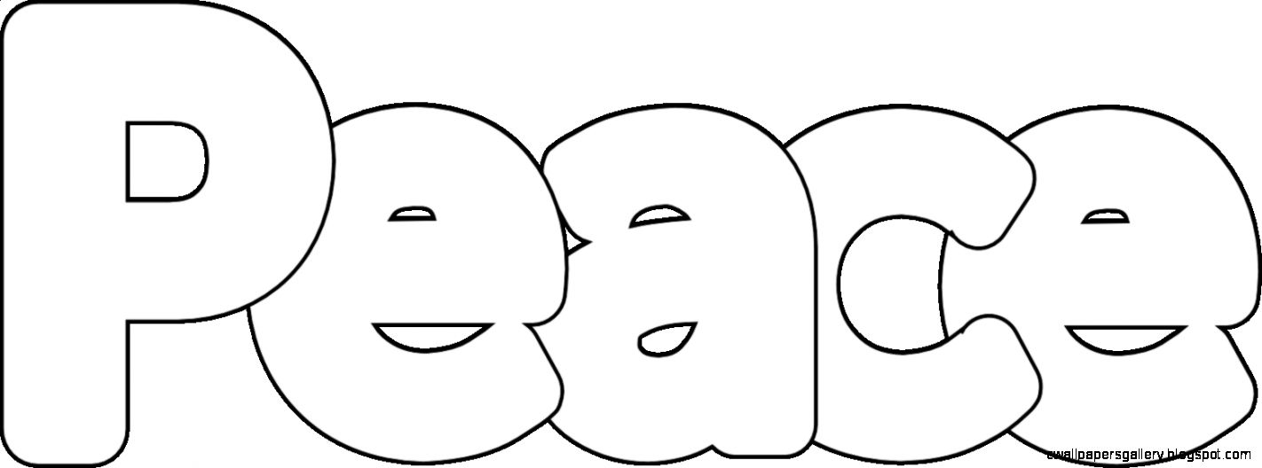 11 Pics of Letters Coloring Pages Peace   Word Coloring Pages
