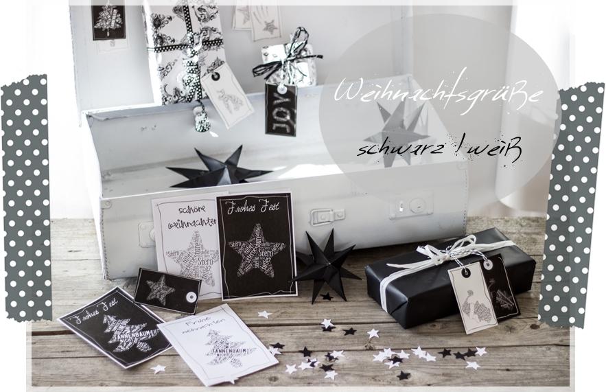 weihnachtsgr e schwarz wei creativlive. Black Bedroom Furniture Sets. Home Design Ideas