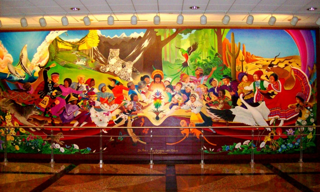 Denver airport paintings murals mural world for Denver international airport mural