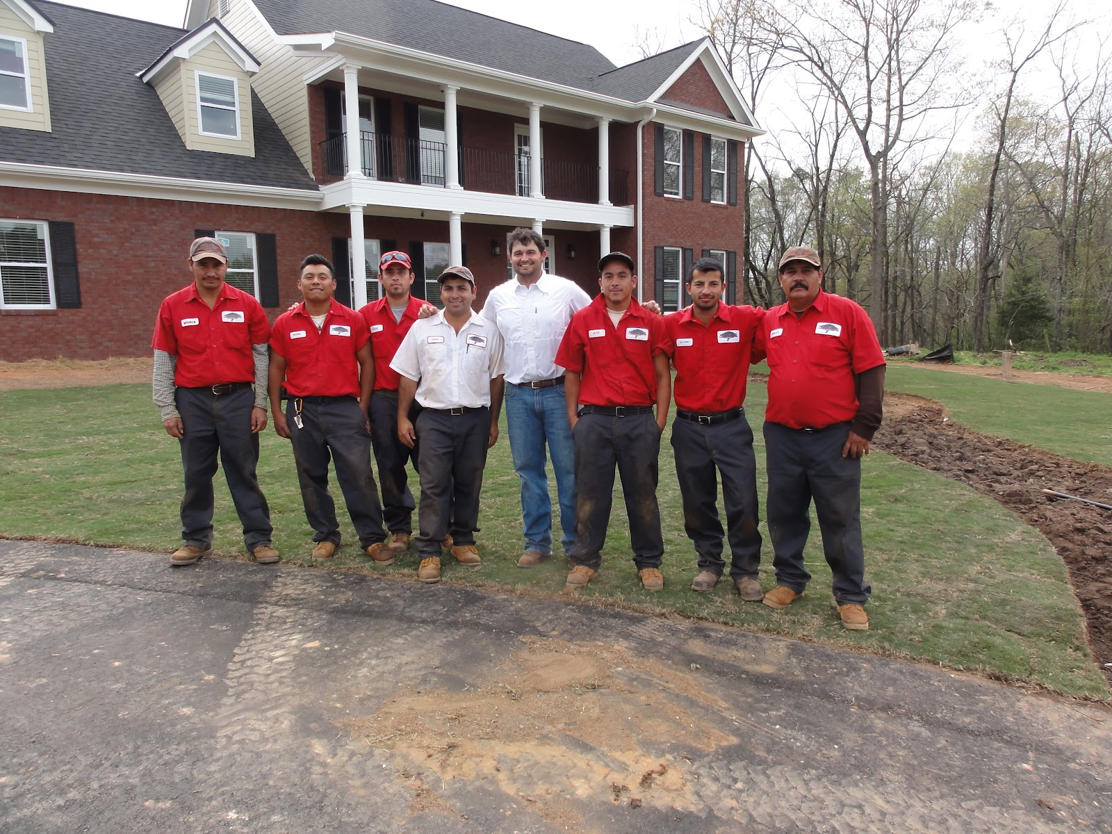 Delightful Jaime Allgood And His Crew At College Pro Landscaping Stop Long Enough For  A Picture