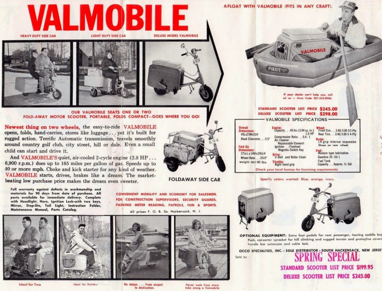 Valmobile Foldaway Motor Scooter Bikermetric