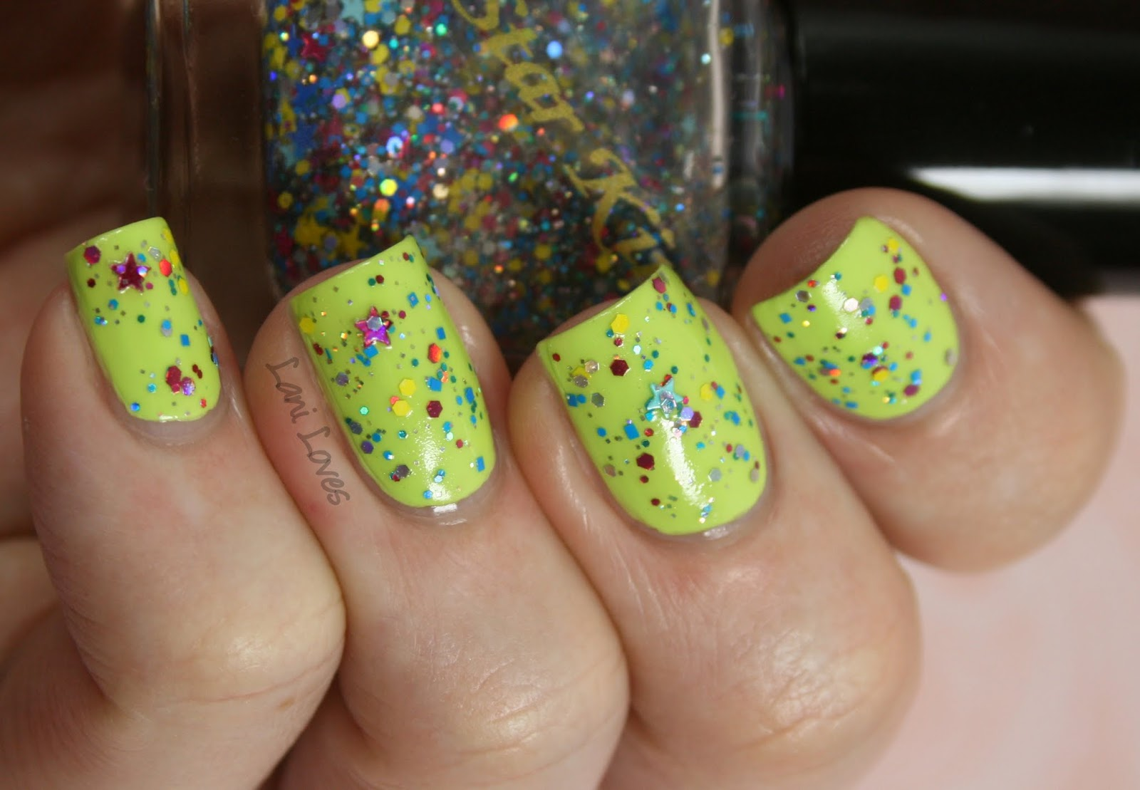 Lime Crime Pastelchio & Star Kin Cravin Mad nail polish swatch