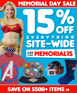 Save 15% off everything at SuperHeroStuff