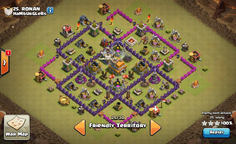 Town hall 7 war base layouts 2016 coc designs