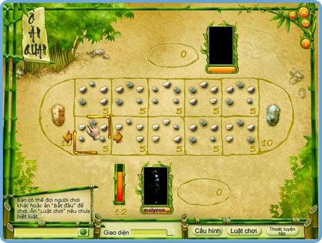 chơi game ô ăn quan online