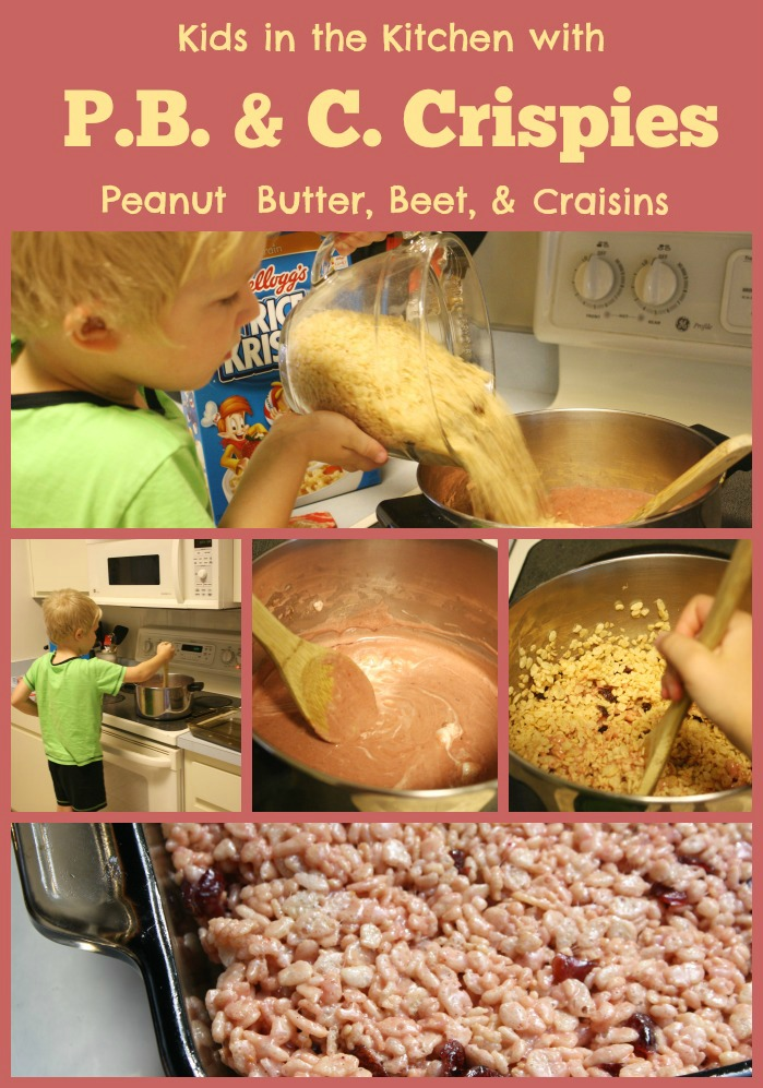 Cooking with Kids Pink Crispie Bites