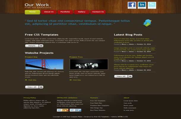 Free Business Wooden HTML CSS Website Template