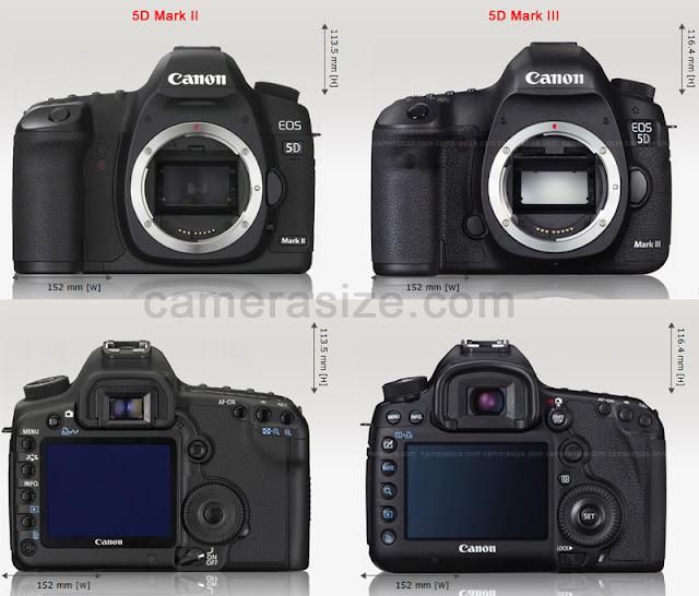 Perbedaan Canon EOS 5D Mark III & 5D Mark II