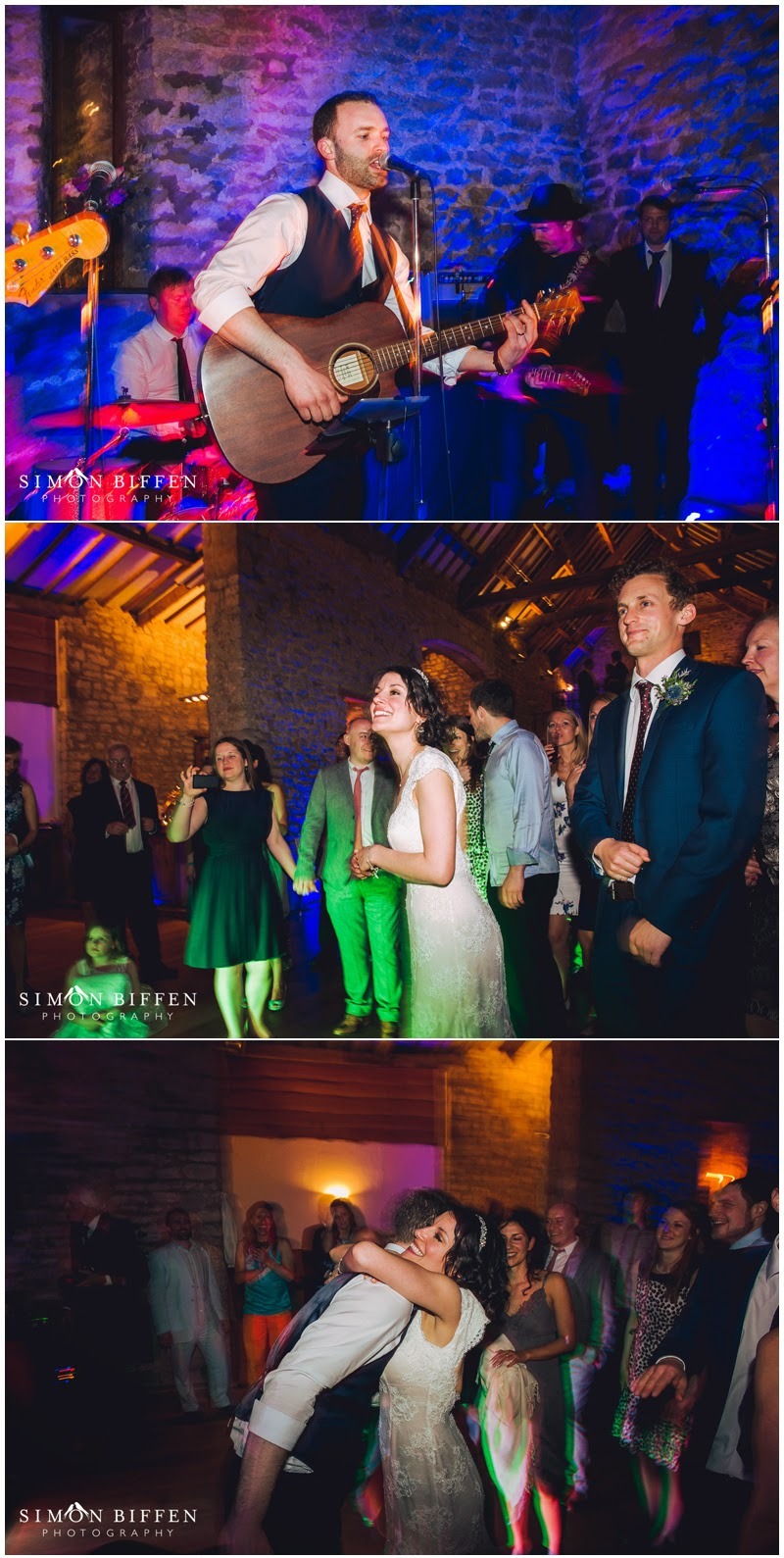Groom sings to his Bride at Priston Mill