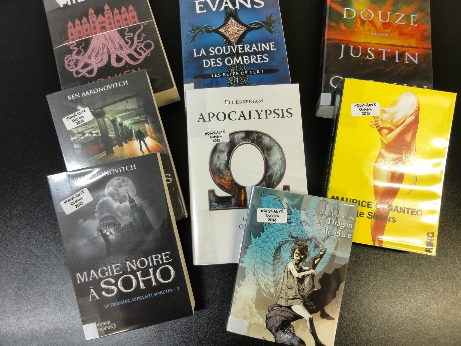 Catalogue des nouveautés sf/fantasy automne 2013