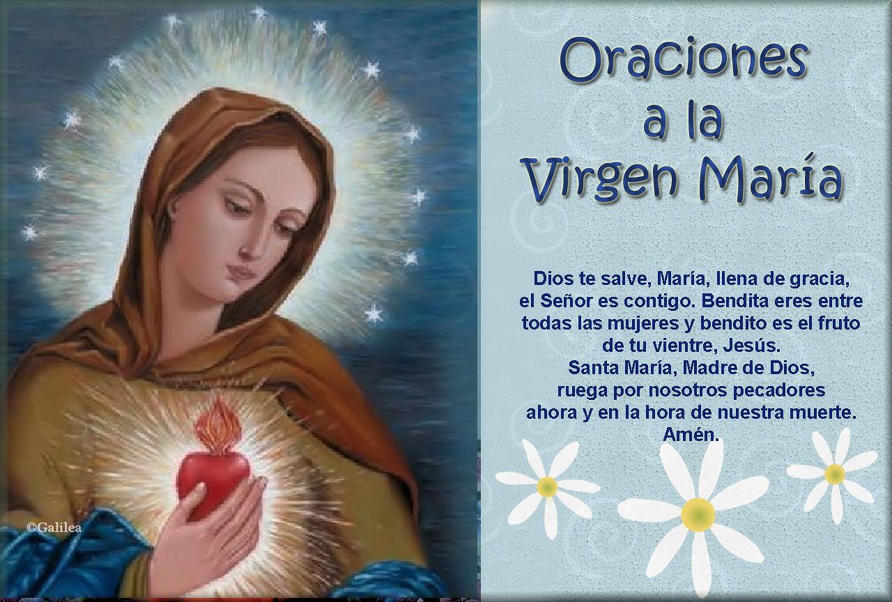 imágenes y gifs animados estampas con oraciones a la virgen marÍa