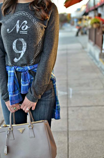 Flannel around the waist