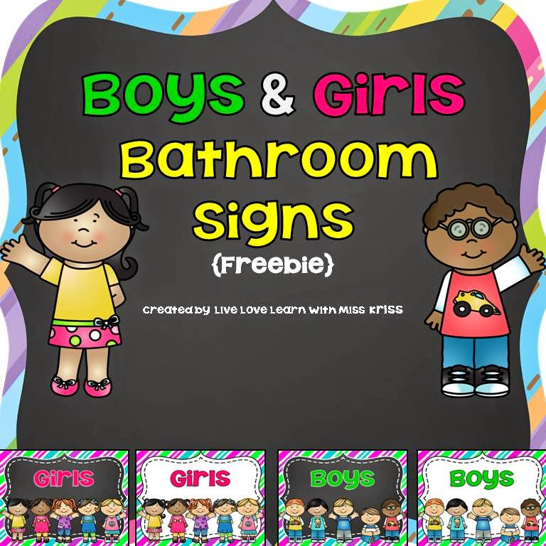 http://www.teacherspayteachers.com/Product/Boys-and-Girls-Bathroom-Signs-freebie-1271106