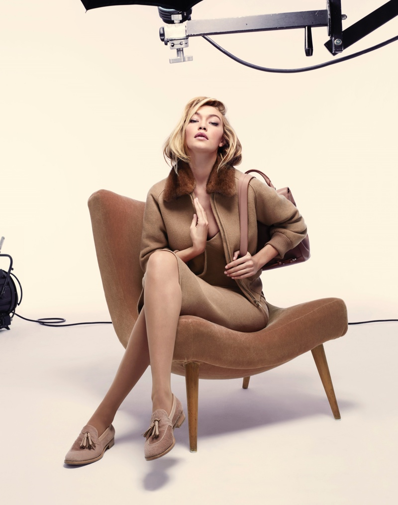 Gigi Hadid poses for the Max Mara Fall 2015 Campaign