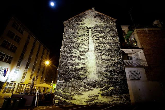 Street Art By Miron Milic For The MUU Street Art Festival In Zagreb, Croatia. 1