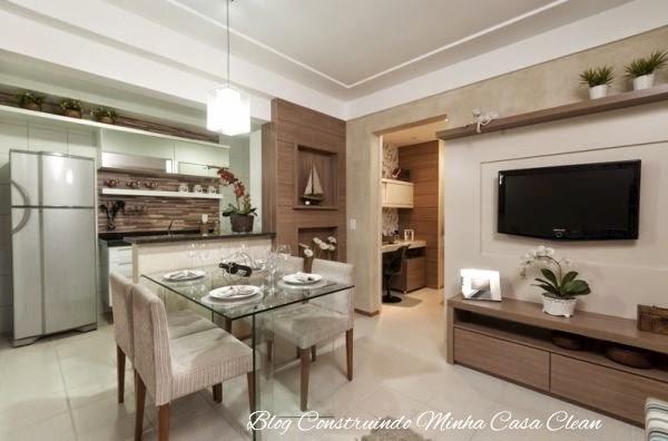 Construindo minha casa clean: 25 cozinhas integradas com as salas ...