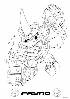 Skylanders Swap Force Coloring Pages Blast Zone