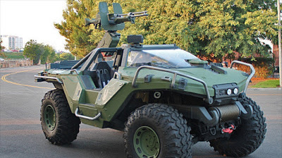 Microsoft Creates New Real Halo Warthog on Hummer H1 Chassis