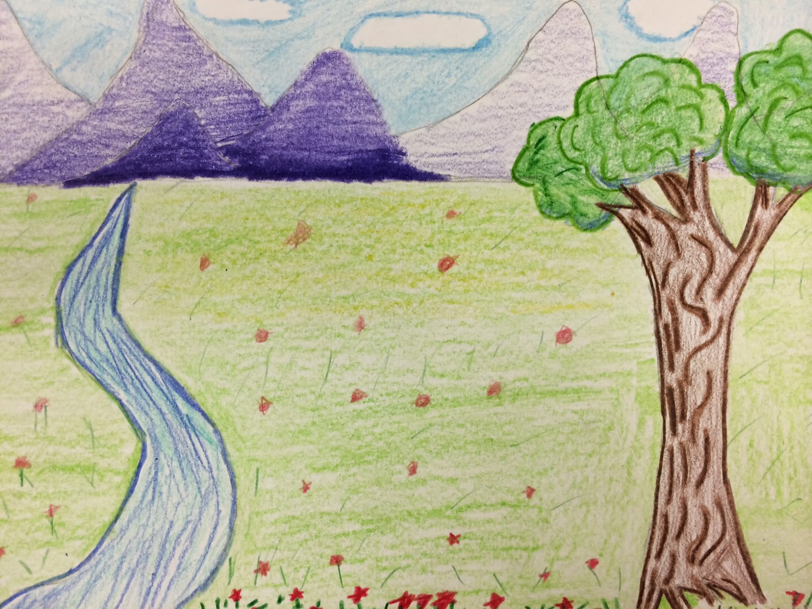 Mrs. Wille\'s Art Room: Step-by-step Landscape Drawings