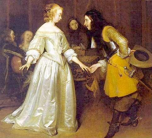 Dama y Caballero del siglo XVII
