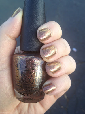 Nail of the Day-OPI Warm & Fozzie