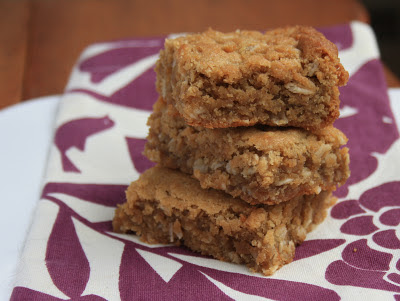 tahini oatmeal squares are school-friendly and delicious