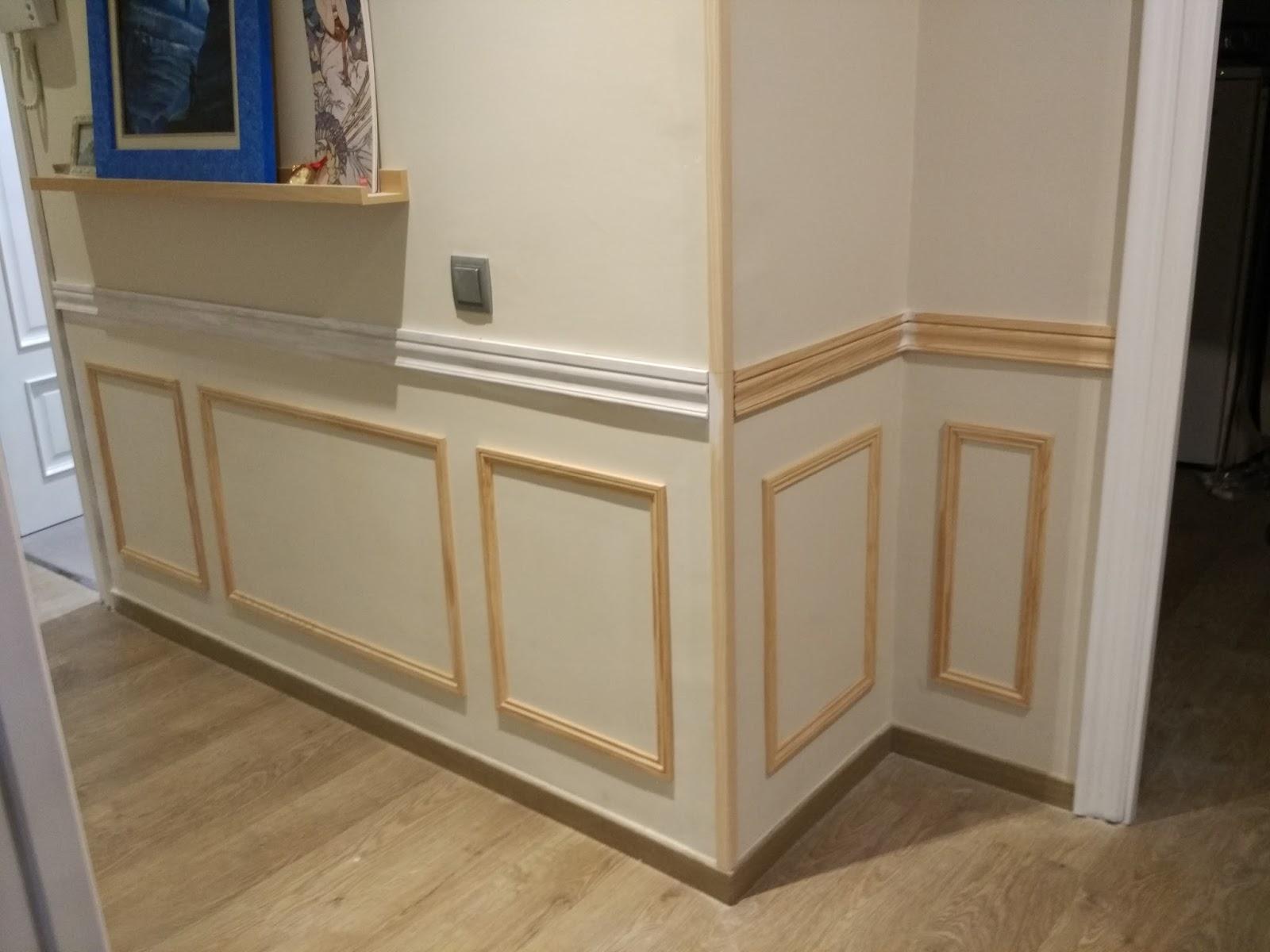Arte artesania y manualidades lacado de puertas handmade y falso z calo en blanco - Zocalos para paredes interiores ...