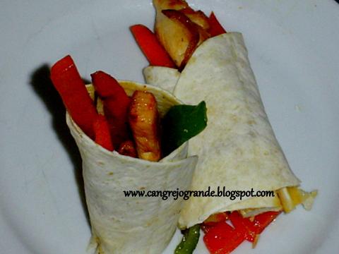 CANGREJO GRANDE: Receta de Wraps de Pollo