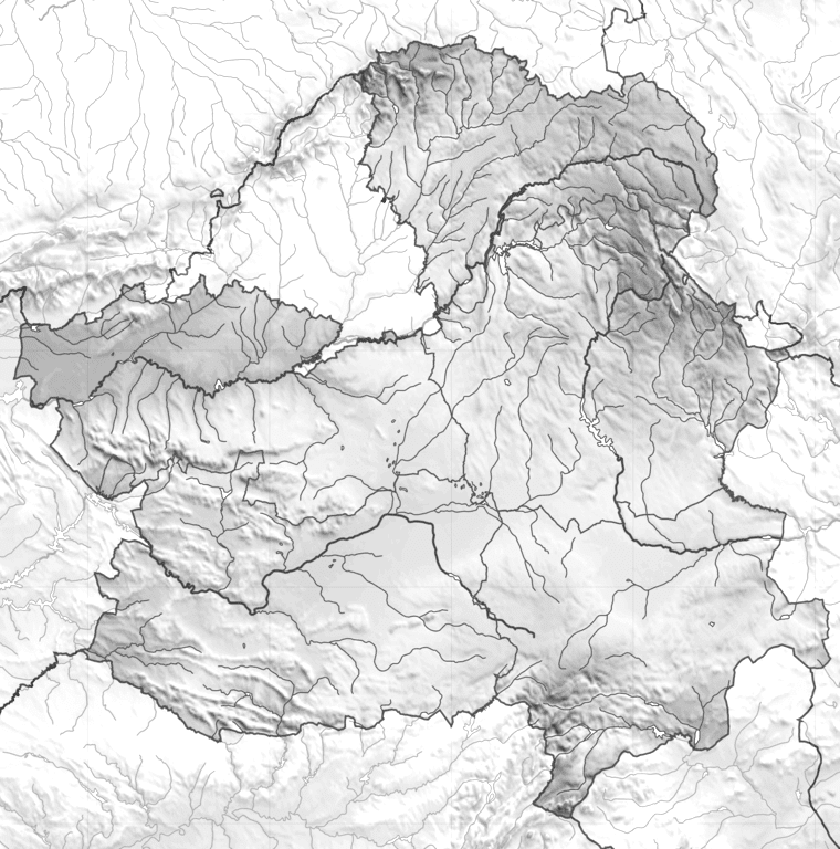 Mapa fisico de Castilla la Mancha