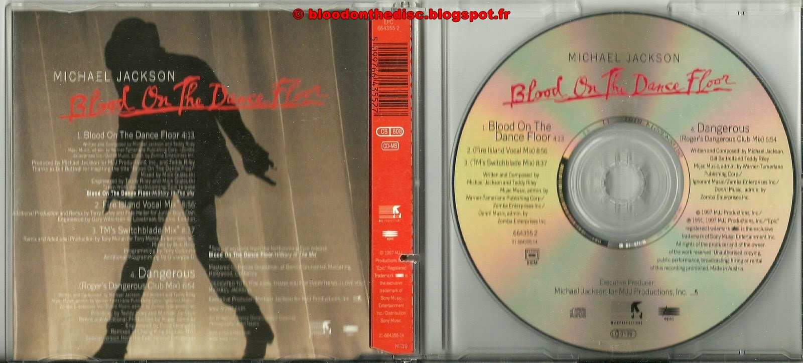 Blood on the dancefloor maxi cd