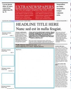 Create a newspaper template