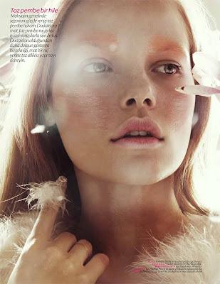 bekah jenkins model, vogue turkey, vogue beauty