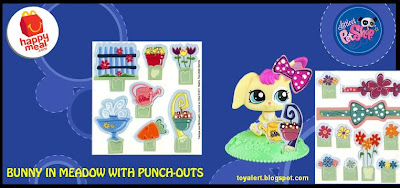 McDonalds Littlest Pet Shop happy meal toys  - US release - Bunny in Meadow