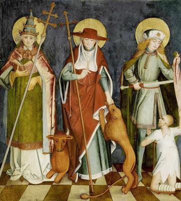 Sob São Silvestre I (na imagem com São Jerônimo e São Martinho de Tours)  a Igreja pôde organizar devidamente o clero e a hierarquia eclesiástica