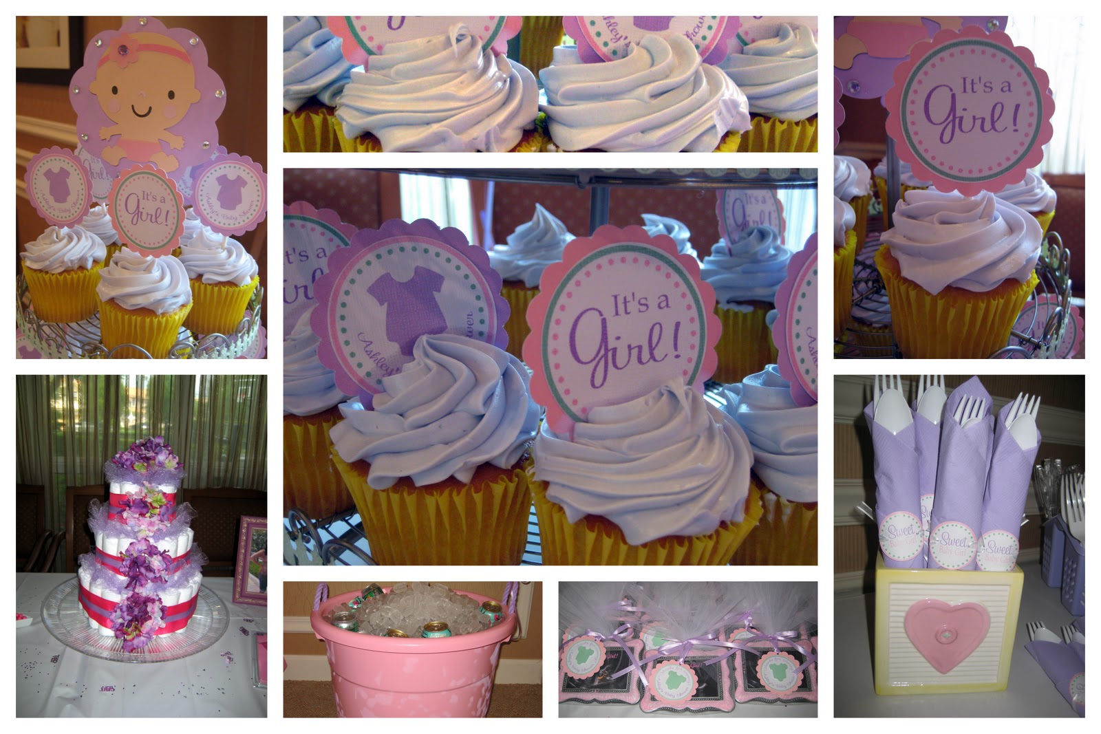 one cute nursery a girly baby shower lavender and pink