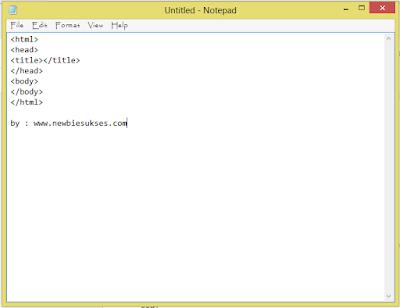 Kemudian paste kan kode tersebut kedalam NotePad kalian