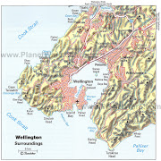 Political Map of Wellington New Zealand. In contempo years Wellington has .