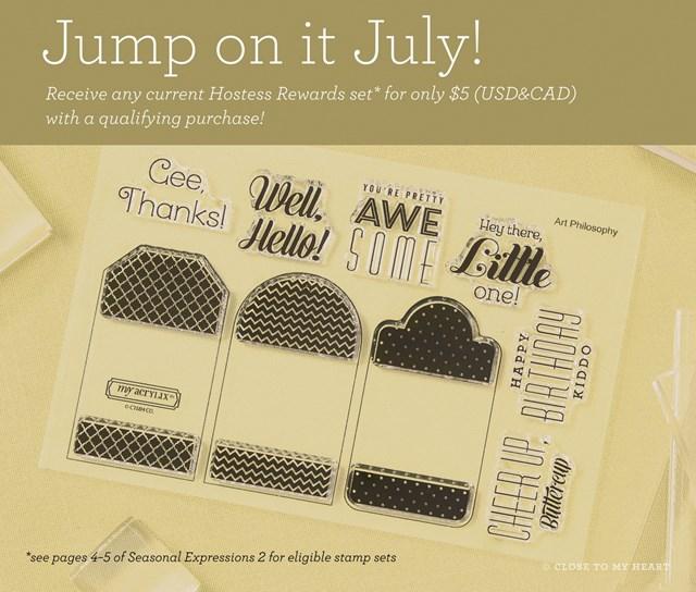 July Special - Choose Hostess Rewards Stamp Sets