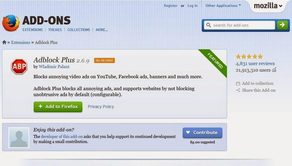engganggu iklan video di YouTube , iklan Facebook , banner dan banyak lagi