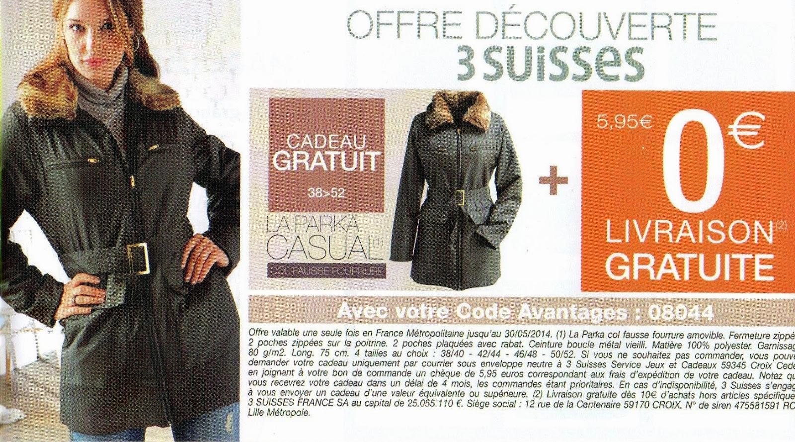 Les bonnes affaires de lacuna 3 suisses cadeau et - Code livraison gratuite amazon ...