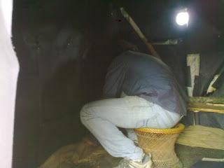 Photo of Chaitanya sealing the Morung camera on location.