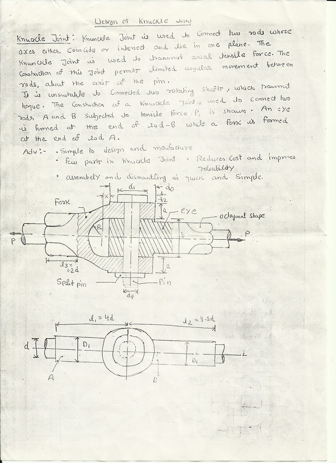 automobile   mechanical engg   design of knuckle joint